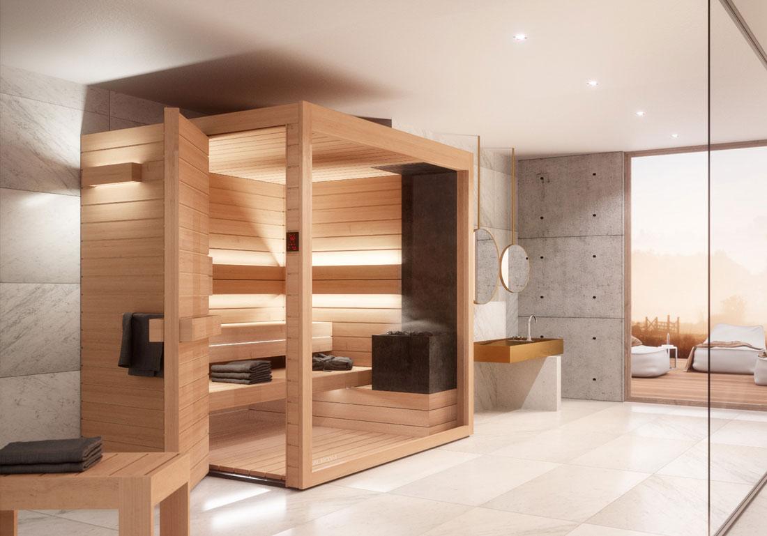 Achat Installation Sauna Design Bois Lumina Suisse