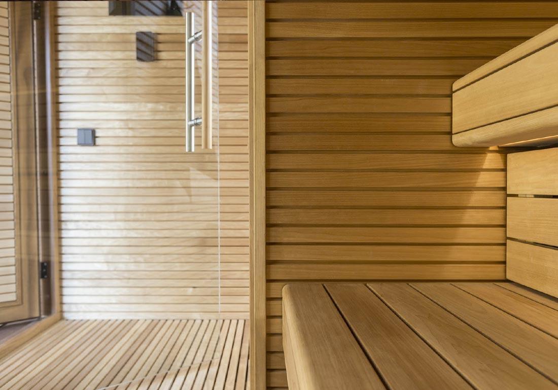 Installation Sauna Luxe Exterieur Bois Lausanne