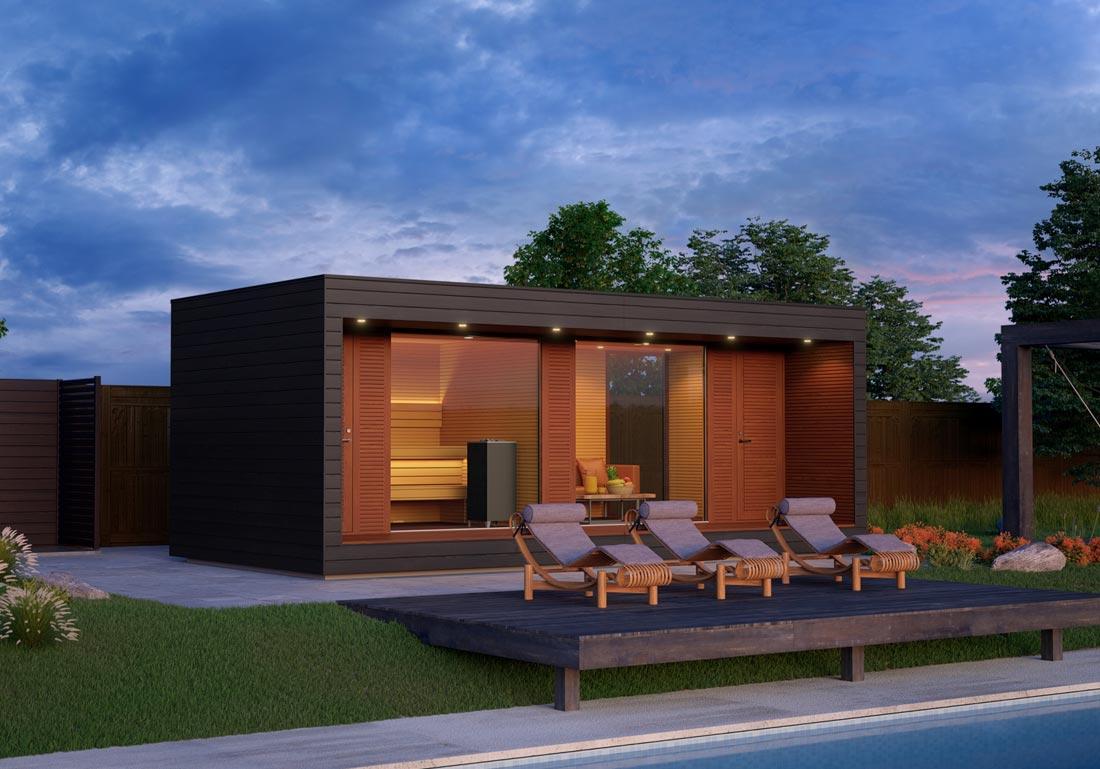 Installation Sauna Luxe Exterieur Bois Vaud