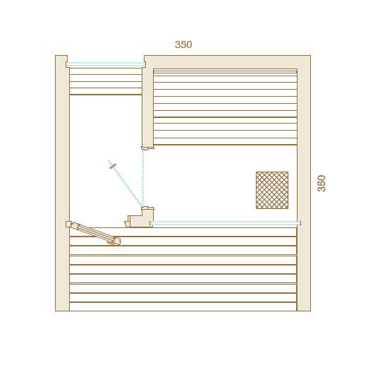 Plan Sauna Luxe Exterieur 350x350