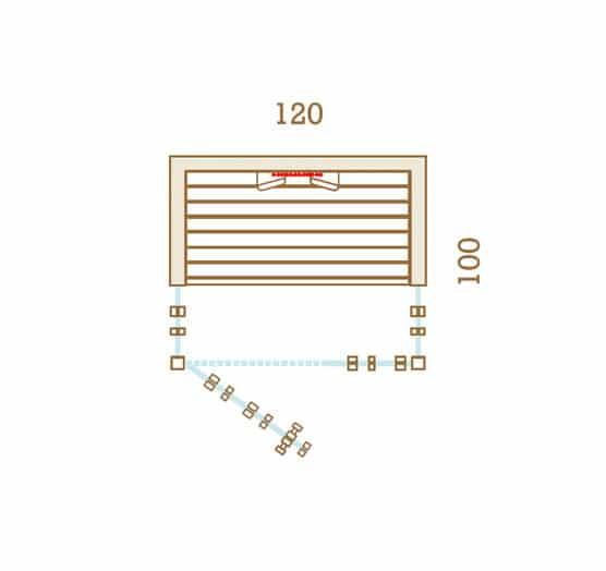 Sauna Infrarouge 120x100