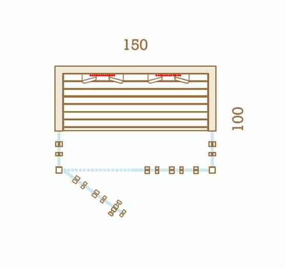 Sauna Infrarouge 150x100