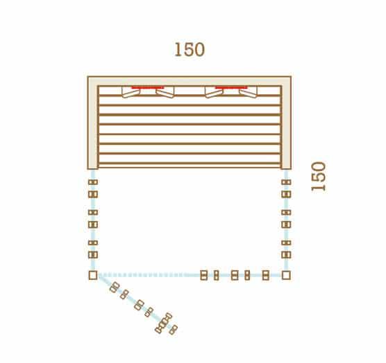 Sauna Infrarouge 150x150