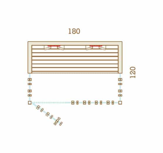 Sauna Infrarouge 180x120