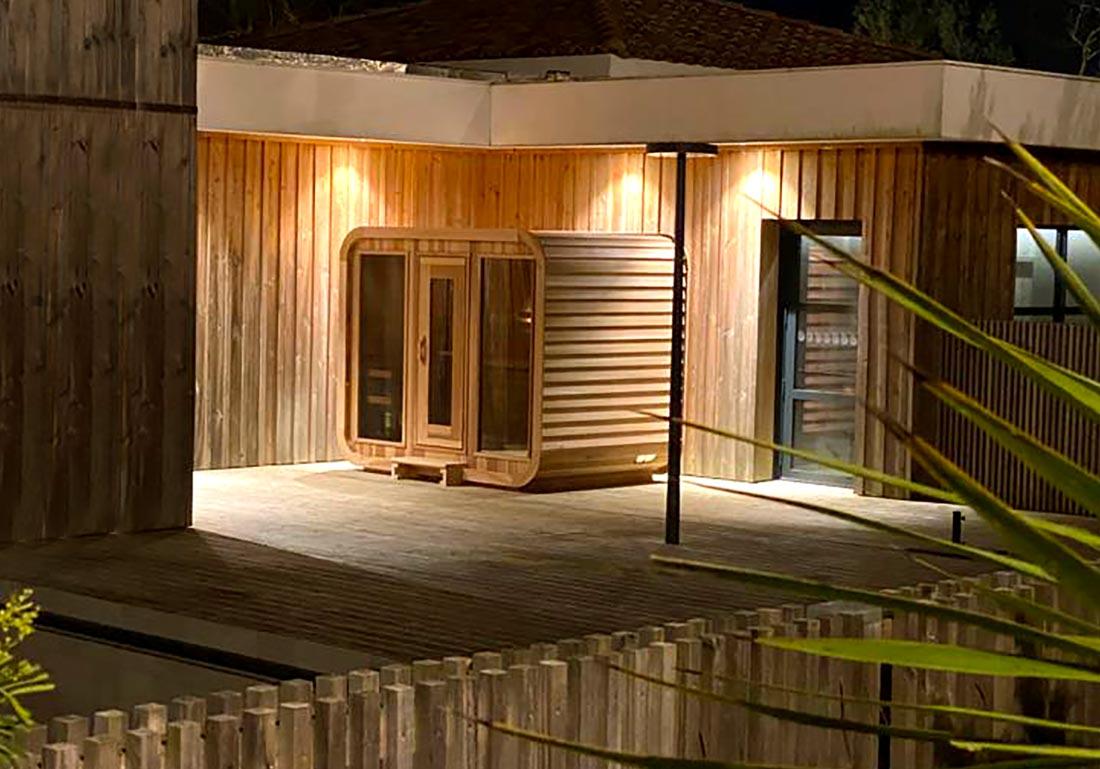 Sauna Exterieur Bois Cube Geneve Lausanne