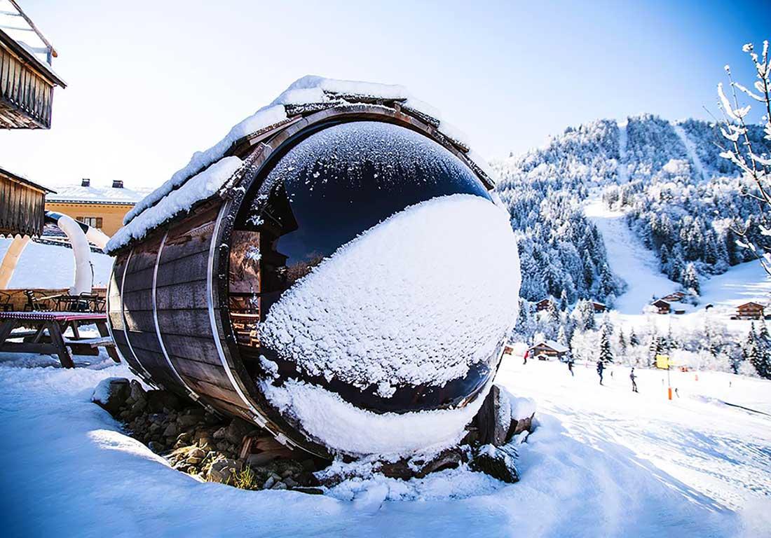 Sauna Exterieur Panoramique Lausanne Suisse