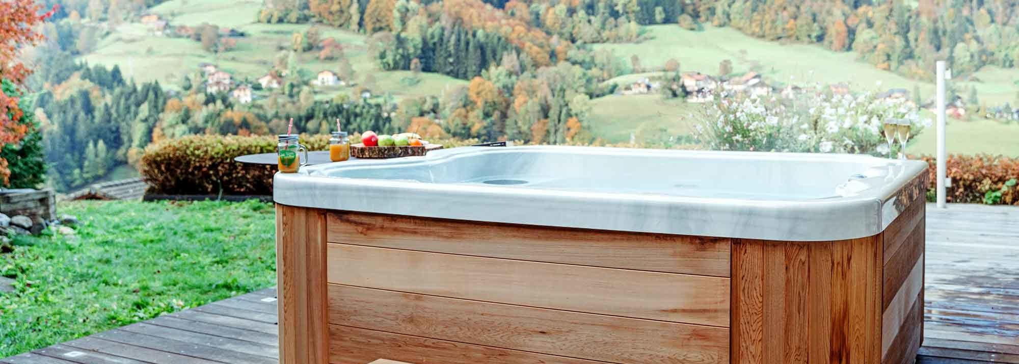 Spa Encastre Jacuzzi Bois Bain Remous Suisse